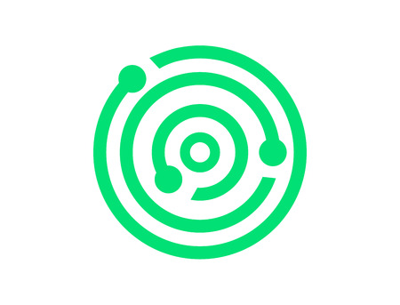 Data technology symbol