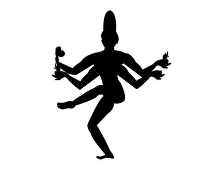 Hindu god Shiva dance