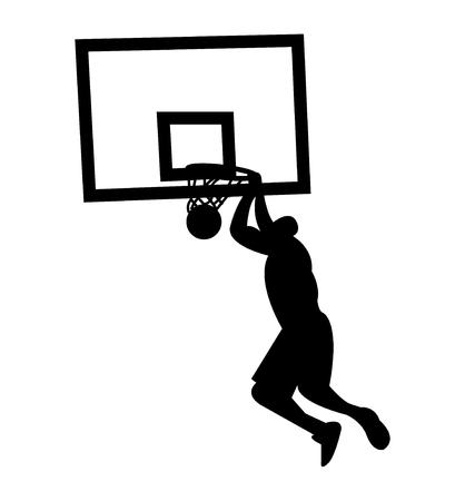 Slam dunk silhouette Illustration