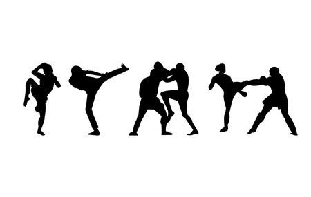MMA, Muay Thai, kickboxing stances and fights