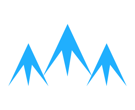 Three mountain peaks logo design