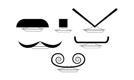 Different styles of mustache