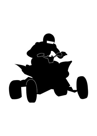 Quad bike racer icon
