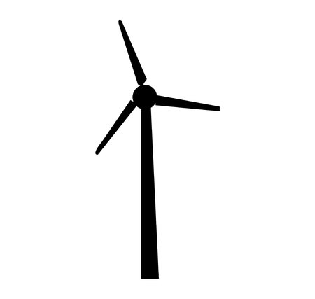 Windmill propeller silhouette