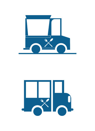 Two food truck icons