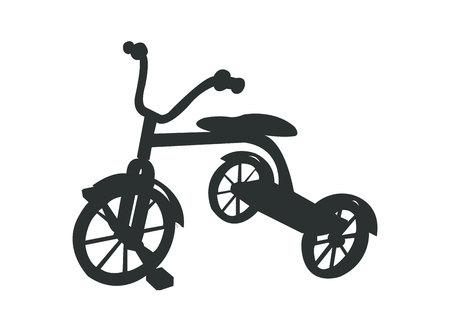 Einfache schwarze Dreirad-Silhouette