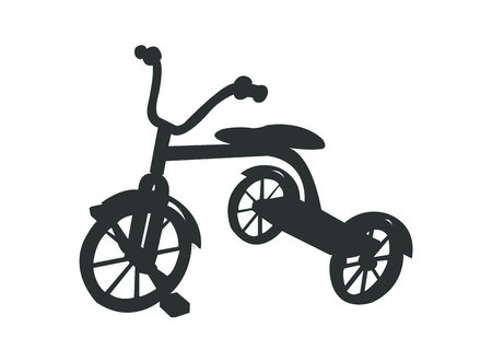 Simple black tricycle silhouette