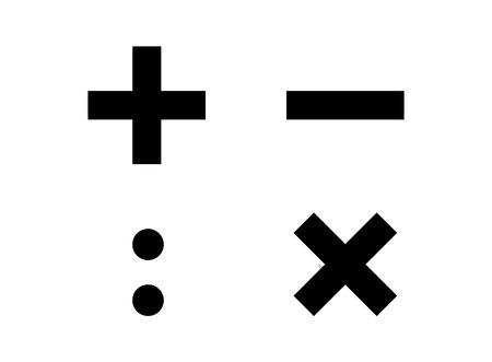 Four basic calculation symbols
