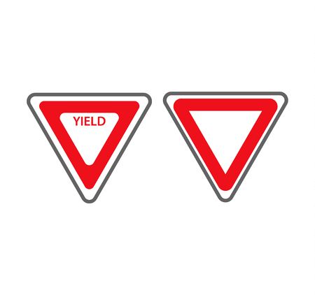 Tiangular traffic signs Illustration