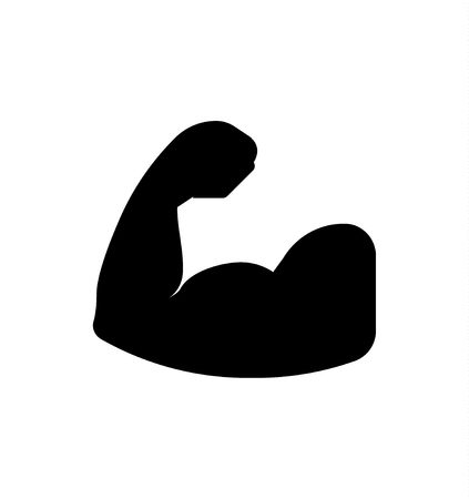 Strong arm silhouette Illustration