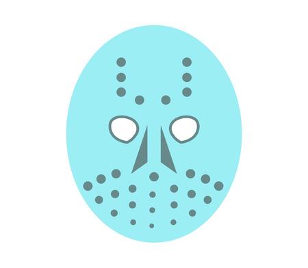 Creepy hockey mask