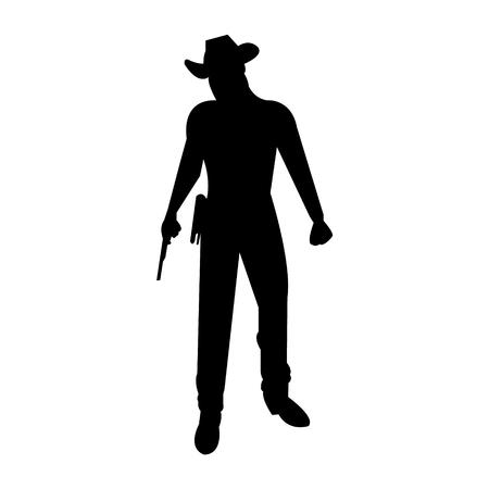 Cowboy bandit silhouette