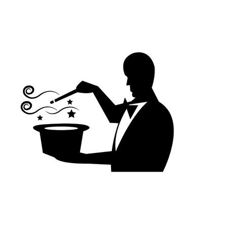 Magician performs a magic trick