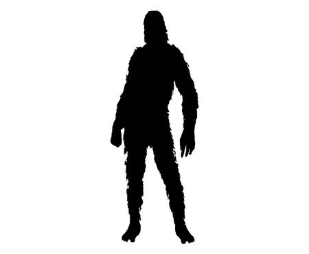 Bigfoot sasquatch silhouette Çizim