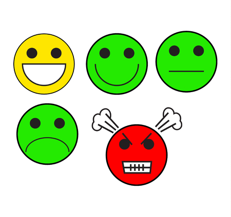 Feelings moods emojis Stock Vector - 114274948
