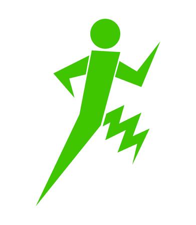 Person exercising with a thunder leg Ilustração
