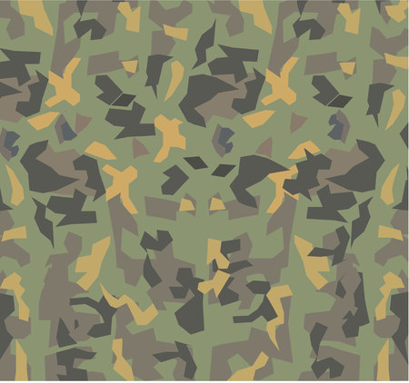 Military type vegetation camouflage, isolated on white background Иллюстрация