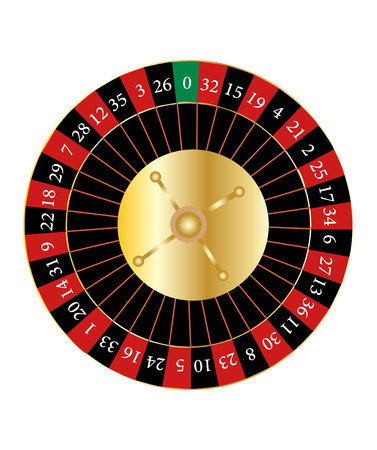 Casino roulette isolated on white background