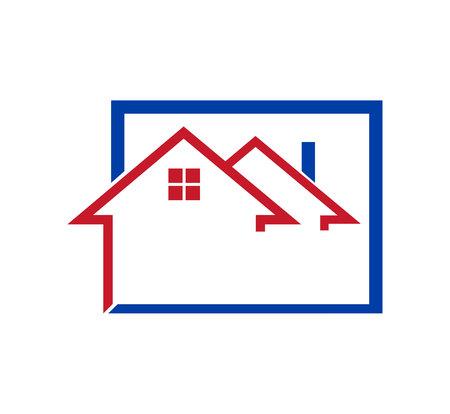 Two houses logo on white background