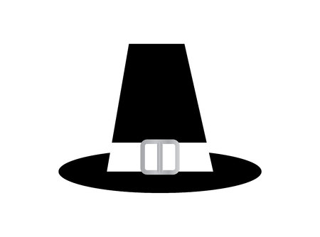 Pilgrim top hat on white background