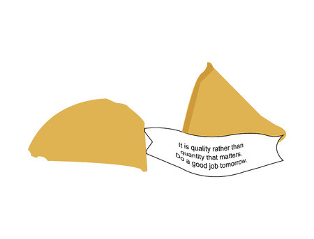 Fortune cookie with a message Standard-Bild - 120183530