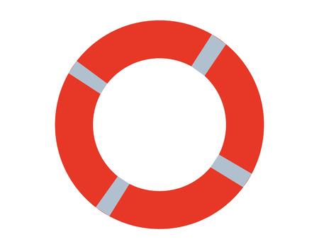 Rescue buoy isolated on white background
