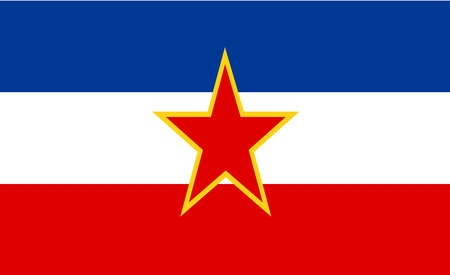 Yugoslavia flag 스톡 콘텐츠