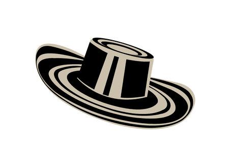 Colombian sombrero hat on white background Reklamní fotografie