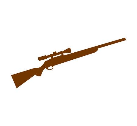 Brown sniper gun on white background