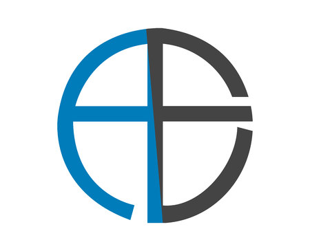 Alphabet letters logo design on white background