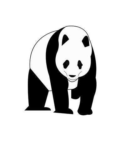 Panda bear isolated on white background Stok Fotoğraf