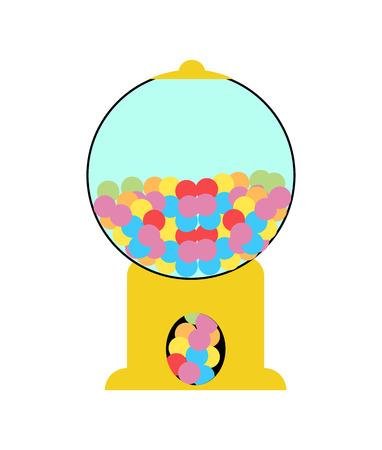 Candy machine on white background Stockfoto