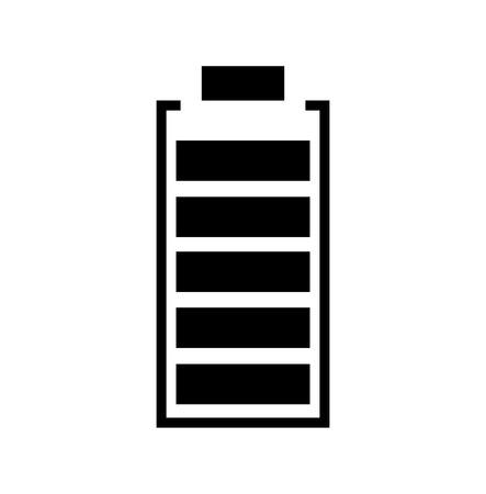 Full battery icon isolated on white background Imagens