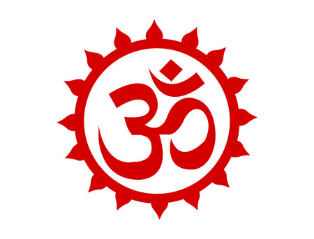 Supreme om symbol isolated on white background