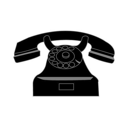 Old vintage retro telephone isolated on white background Stock Photo