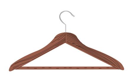 Realistic coat hanger illustration isolated on white background Stock Photo