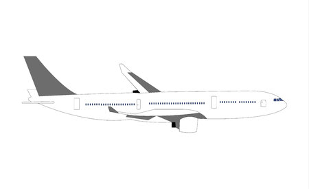 Airliner isolated on white background