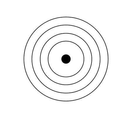 Black and white target icon Çizim