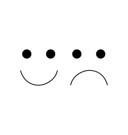 Happy sad emoji face  イラスト・ベクター素材