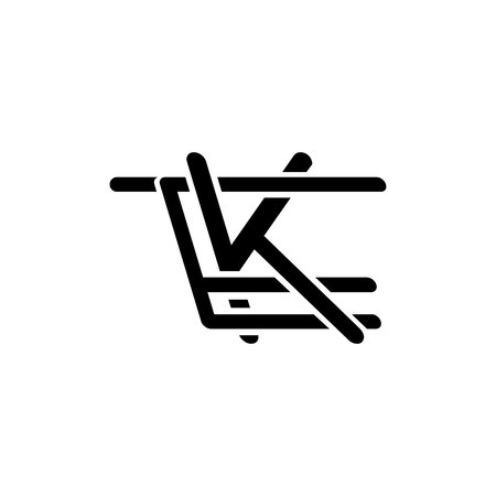 TEK initials letter logo isolated on white background Stok Fotoğraf - 121669779