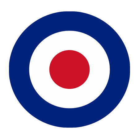 Royal air force target logo isolated on white background