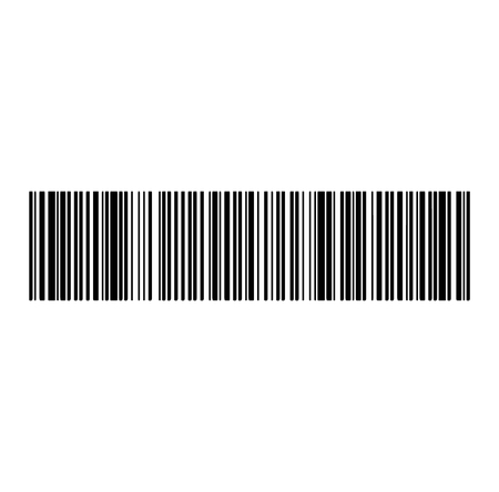 Wide barcode on white background Иллюстрация