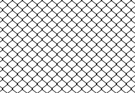 Silhouette de clôture métallique sur fond blanc