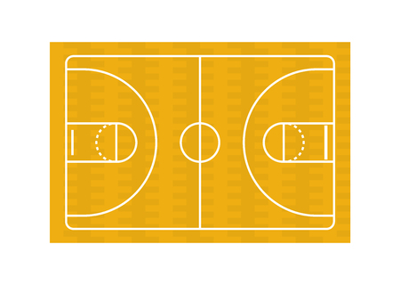 Basketball court on white background Standard-Bild - 123382715
