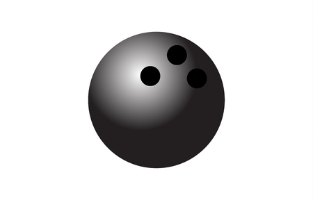 Bowling ball on white background 向量圖像