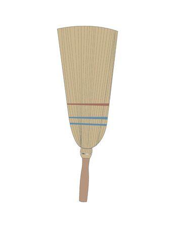Broom isolated on white background Ilustração