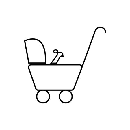 baby cart icon