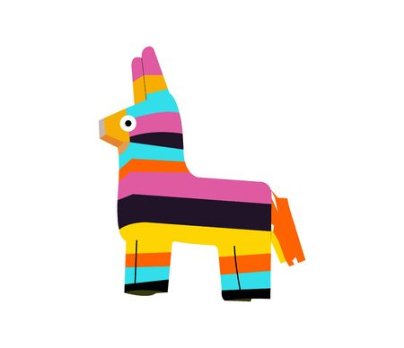 colorful pinata on white Stock Vector - 129038387