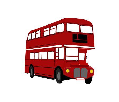 bus de Londres rouge sur blanc
