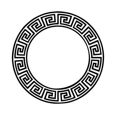 Greek ornamental pattern on white Stok Fotoğraf - 132003417